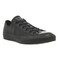 Converse All Star Low Leather Black Mono Leather - Unisex Sports