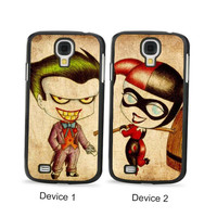 Harley Quinn and Joker Chibi Couples Phone Cases for Samsung Galaxy Cases