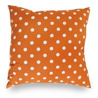 Tangerine Small Polka Dot Extra Large Pillow