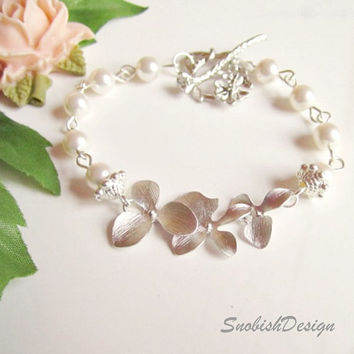 Orchid Jewelry  Orchid Flowers and Swarovski by SnobishDesign