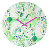 CayenaBlanca Mint lights Round Clock