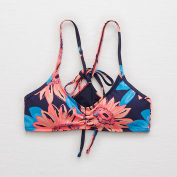 Aerie Scoop Bikini Top , Basic Navy