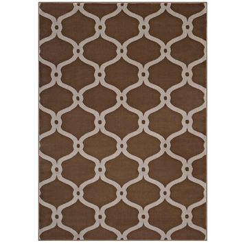 Beltara Chain Link Transitional Trellis 5x8 Area Rug - R-1129A-58