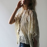 Free People Womens Lace Pullover - Ivory One