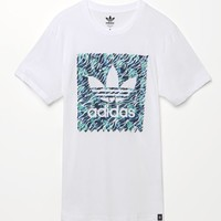 Adidas Aqua Stamp T-Shirt - Mens Tee - White