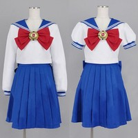 Sailor Moon Cosplay clothing Navy Sailor School Uniform Performance Costumes Kawaii Halloween Cosplay Custom made size