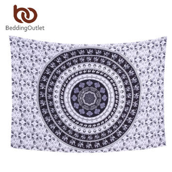 Purple Geometric Bohemian Home Decor Large Mandala Wall Hanging Tapestry Wall Art