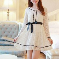 Kawaii Lolita Princess Style Lacing Slim Fit Dress - S M L from Tobi's Finds