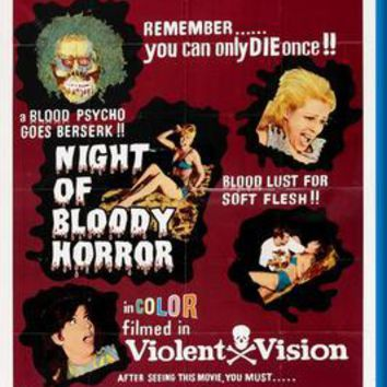 "Night Of Bloody Horror Poster 24""x36"""