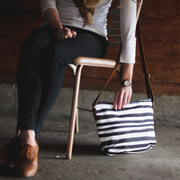 Black Stripe Crossbody