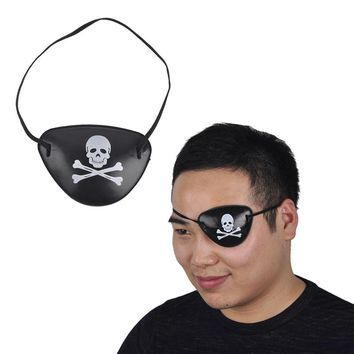 50pcs/lot cool adult skull pirate eye patch mask crossbone for carnival halloween costume party kids children toy crafts gifts