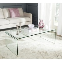 Shop Safavieh Willow Glass Coffee Table at Lowes.com