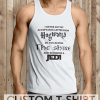 Lord of the rings HOGWARTS JEDI Funny Quotes Men Tanktop - tri1 Tanktop For Men  / Custom - Tanktop / Men Tanktop