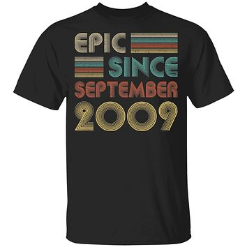Epic Since September 2009 Vintage 11th Birthday Gifts Youth