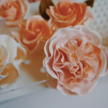 Sugar Garden Rose, Gumpaste Garden Rose, Cake Flower Rose for Wedding, Birthday, Sugar Flower for Baby Shower Cake,Edible Cake topper
