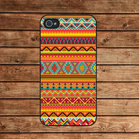 Aztec print, Aztec pattern, tribal, psychedelic--iphone 4 case,iphone 4s case  ,in plastic or silicone case