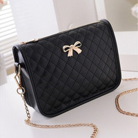 New Fashion Women Synthetic Leather Casual Bow Shoulder Bag Cross Bag Handbag [10198320583]