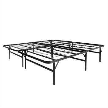 Full XL size Metal Platform Bed Frame 18-inch High
