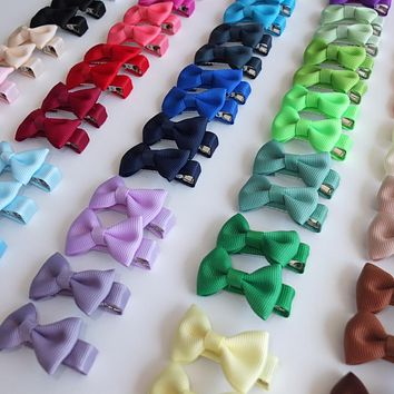 1 Pair Hair clips Hair bow Boutique Mini Bows Kids Girl Headwear Hairbow Barrettes Hairpins Hair accessories Hairgrips