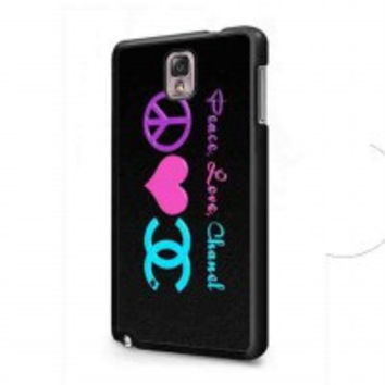 Peace Love Chanel for samsung galaxy note 3 case
