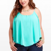 Plus Size Seascape Chiffon Cami | Fashion To Figure