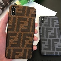 FENDI New Popular Women Men Mobile Phone Cover Case For iphone 6 6s 6plus 6s-plus 7 7plus 8 8plus X XSMax XR