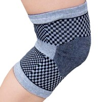 Evelots  Bamboo Knee Wrap Elastic Compression Support, Arthritis Brace (L)