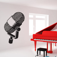 Vinyl Wall Decal Sticker Mic Music Microphone #KRiley106