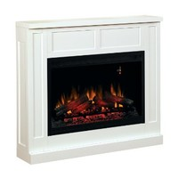 ClassicFlame 36WM2383-T401 Transitional Wall Fireplace Mantel, White (Electric Fireplace Insert sold separately)