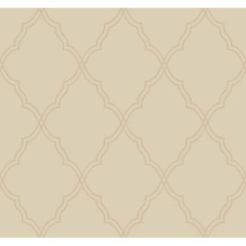 York Wallcoverings CX1224 Candice Olson Dimensional Surfaces Moroccan Lattice Sand Wallpaper