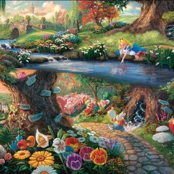 Thomas Kinkade Anime Oil Painting Art Print On Canvas Christmas Home Decoration Wall Art  Free Shipping  NO framess GZ26