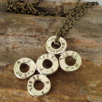Bullet Casing Jewelry 38 SPL Dogbone Necklace by ShellsNStuff