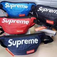 Canvas street fashion supreme Crossboy Shoulder Chest Bag