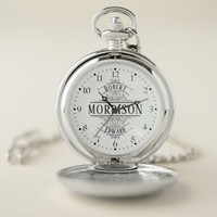Masculine Vintage Antique Ornate Scrolls Monogram Pocket Watch