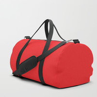 Youtube Red Duffle Bag by spaceandlines