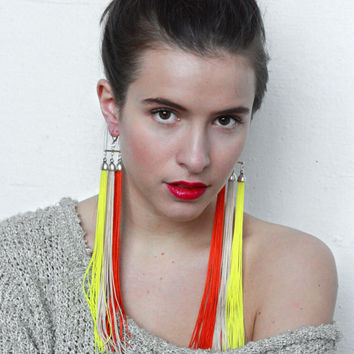Jaguar Warrior  Aztec Tribe  Long Triple Fringe by lazysundaysshop