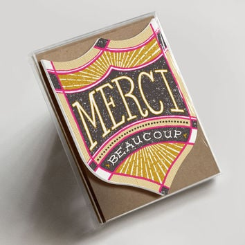 Merci Beaucoup Badge Boxed Set