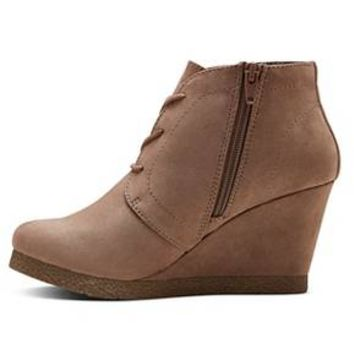 Women's Terri Lace Up Wedge Booties - Merona® : Target