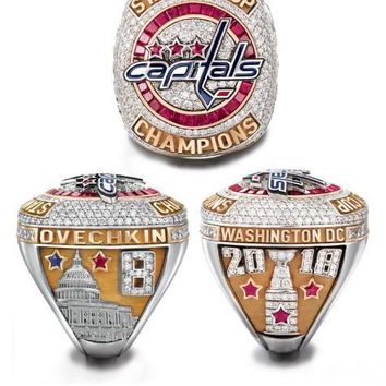 2017 2018 washington  capitals ovechkin fans  #8 MVP championship ring