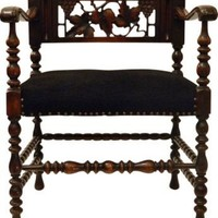 Antique Carved Wood Seat - One Kings Lane - Vintage  Market Finds - Furniture