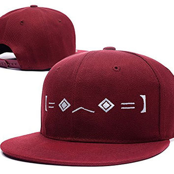 HAIHONG Porter Robinson Worlds Logo Adjustable snapback Embroidery Hats Caps - Red