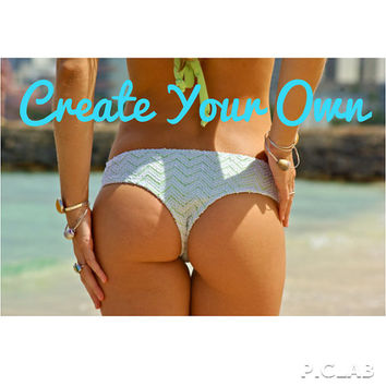 MANOA: REVERSIBLE Brazilian Bikini Bottoms - Create Your Own