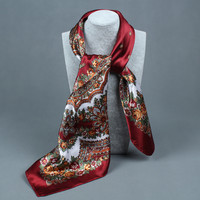compass simulation trace towel summer style scarf Arrival painting Flower 90*90 Printed square scarf silk scarf woman