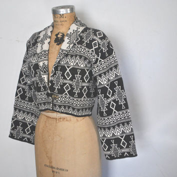 Tribal Woven Jacket / Southwestern tapestry / S-L