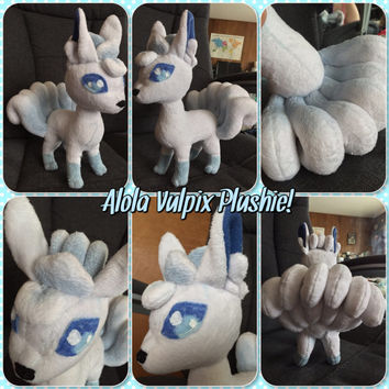 Pokemon Inspired: Alola Fox Plush! Vulpix!