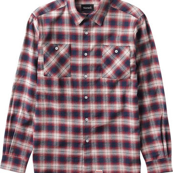 Diamond Ombre Flannel Longsleeve Buttonup Small Red
