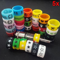 5PCS Punk Rock Silicone Rings Sports Band Rubber Flat Vape Accessory New Fashion Hogard
