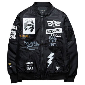 Queens Patch Bomber Jacket by RB