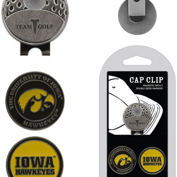 NCAA Iowa Hawkeyes Hat Clip & 2 Magnetic Golf Ball Markers