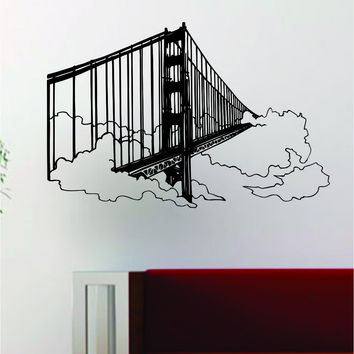 Golden Gate Bridge Decal Wall Vinyl Art Decor Room Design San Francisco California